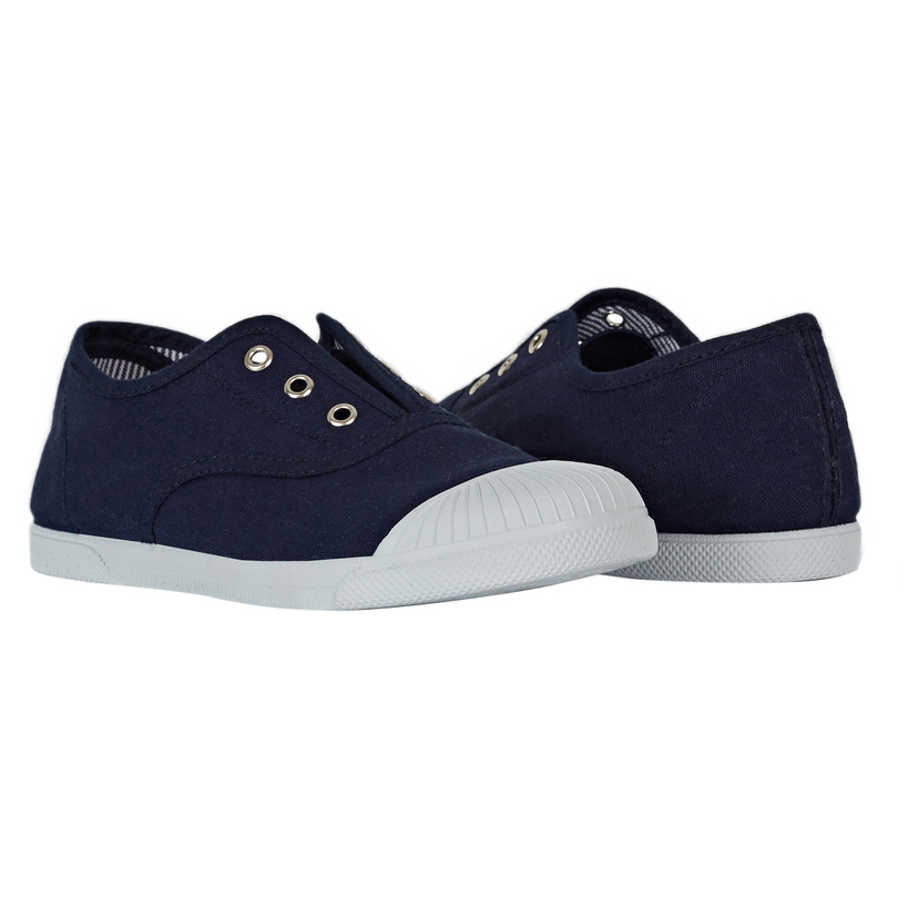 Canvas Slip on Sneaker, Navy