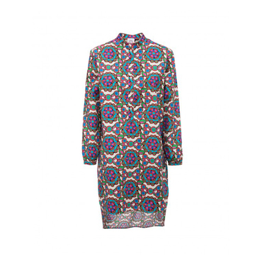 Women's Beach Shirt Dress, Kaleidoscope