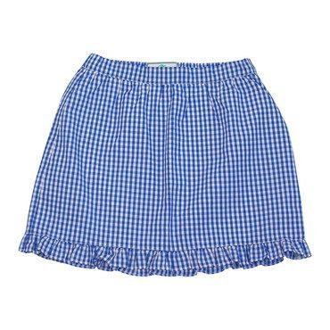 Lucy Ruffle Gingham Skirt, Blue