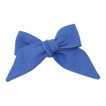 Baby Tied Bow, Perwinkle Linen