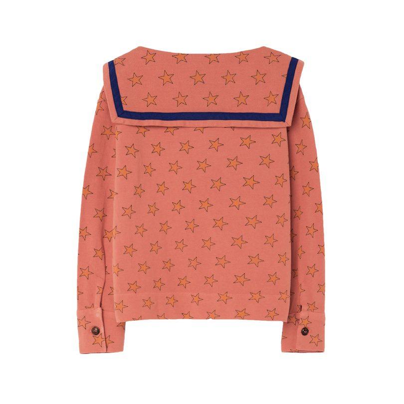Parrot Shirt, Deep Orange Stars
