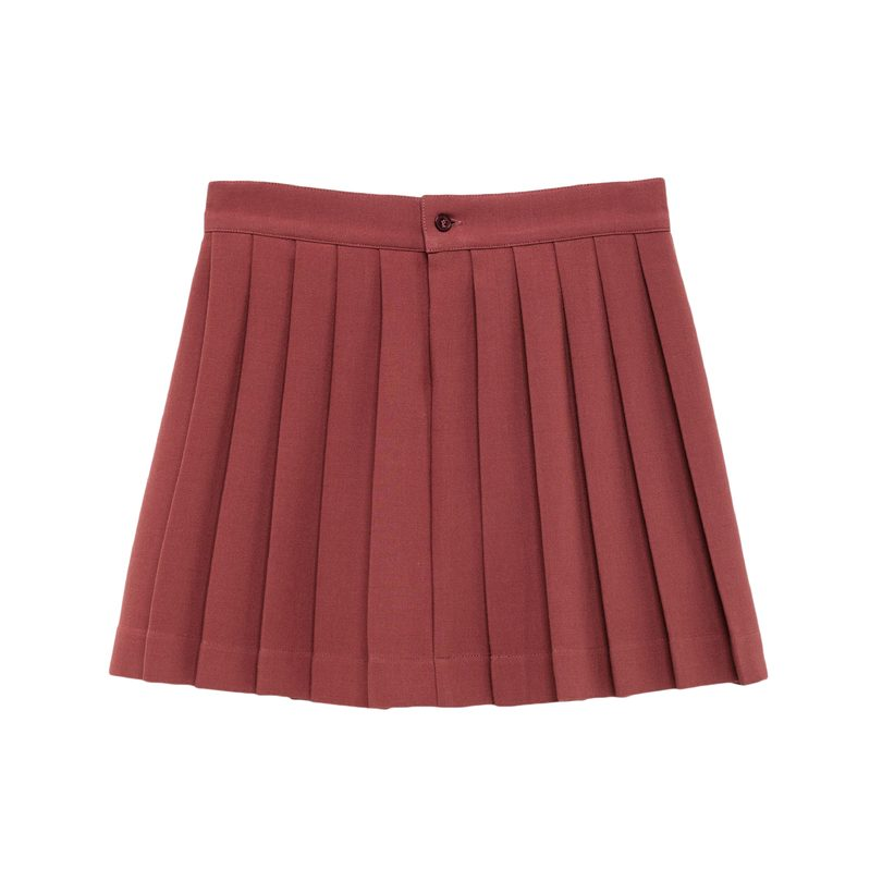 Turkey Skirt, Red Garnet Tao Initials