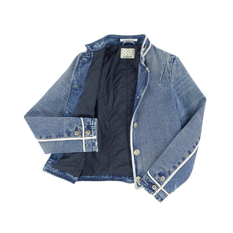 Washed Denim Bellboy Jacket, Indigo