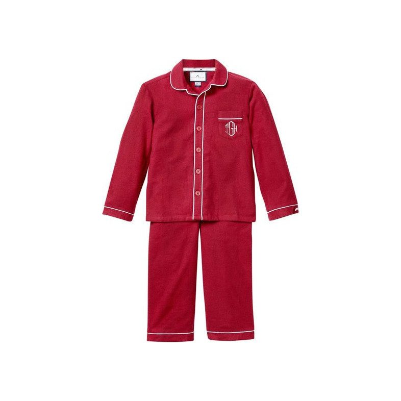 a0b511c0cb89 Monogrammed Flannel Pajamas with Double Piping
