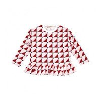 Lila Top, Red & White