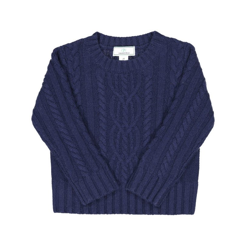 Fishers Cable Sweater, Navy