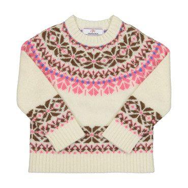 Katrina Fairisle Sweater, Winter White