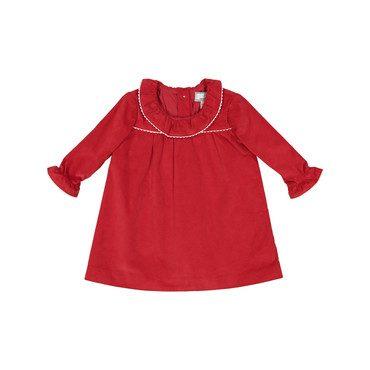 Elsa Corduroy Dress, Post Box Red