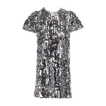 Sequin Dress, Silver
