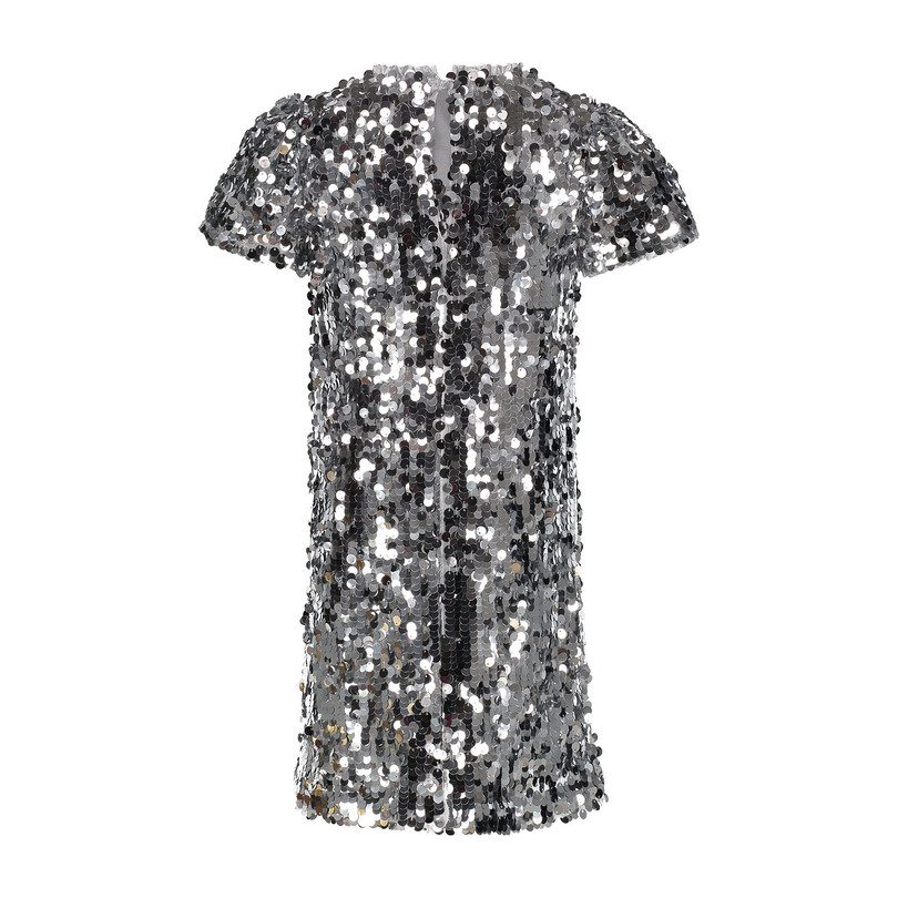 Sequin Dress, Silver