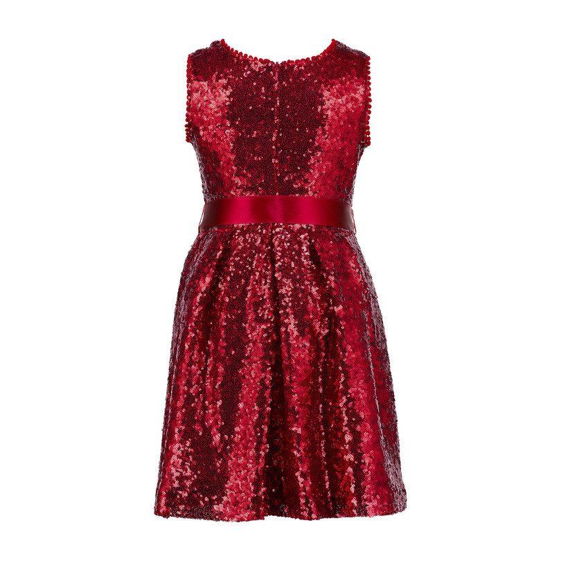Sequin Dress, Red