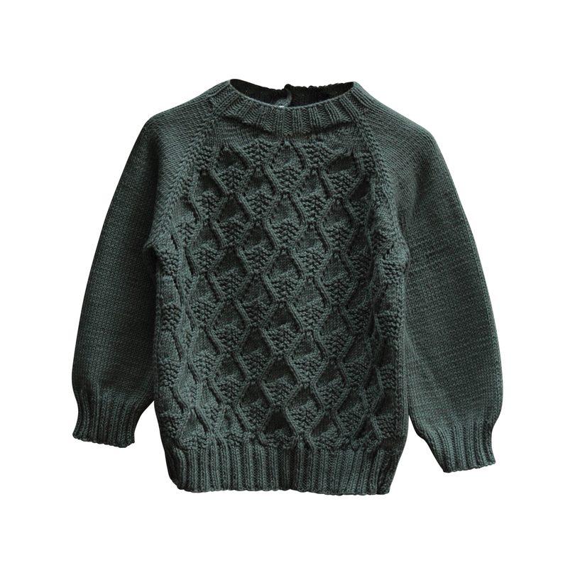 Handknit River Sweater, Naja
