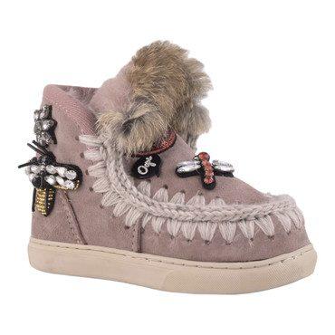 Eskimo Mix Patch Sneaker, Antique Rose