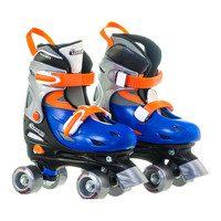 Adjustable Quad Skates, Blue/Orange