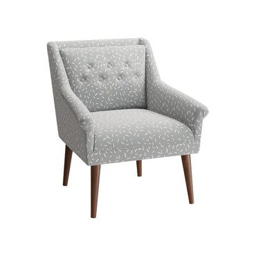Mid-Century Chair, Blue Confetti