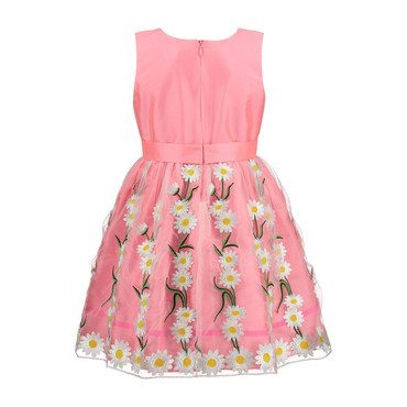 Daisy Embroidered Dress, Pink