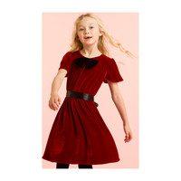 Velvet Dress, Red & Black