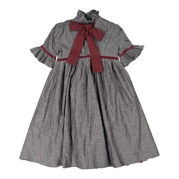 Carriage Smock Maxi, Berry