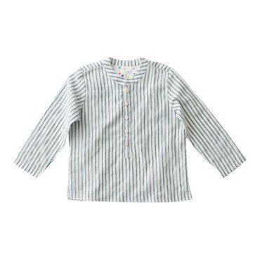 Lupo Shirt, Lime Stripe