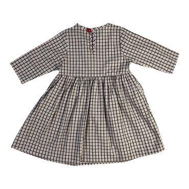 Winnie Dress, Lavender & Chocolate Checks