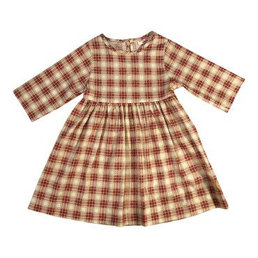 Winnie Dress, Pomegranate Plaid