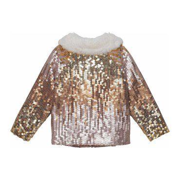 Nadine Jacket, Gold Multi Sequins