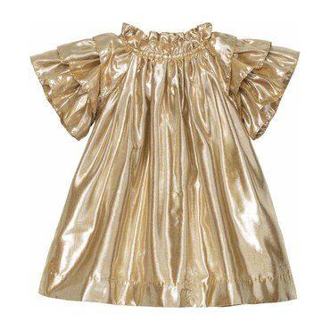 Opal Dress, Honey Lame