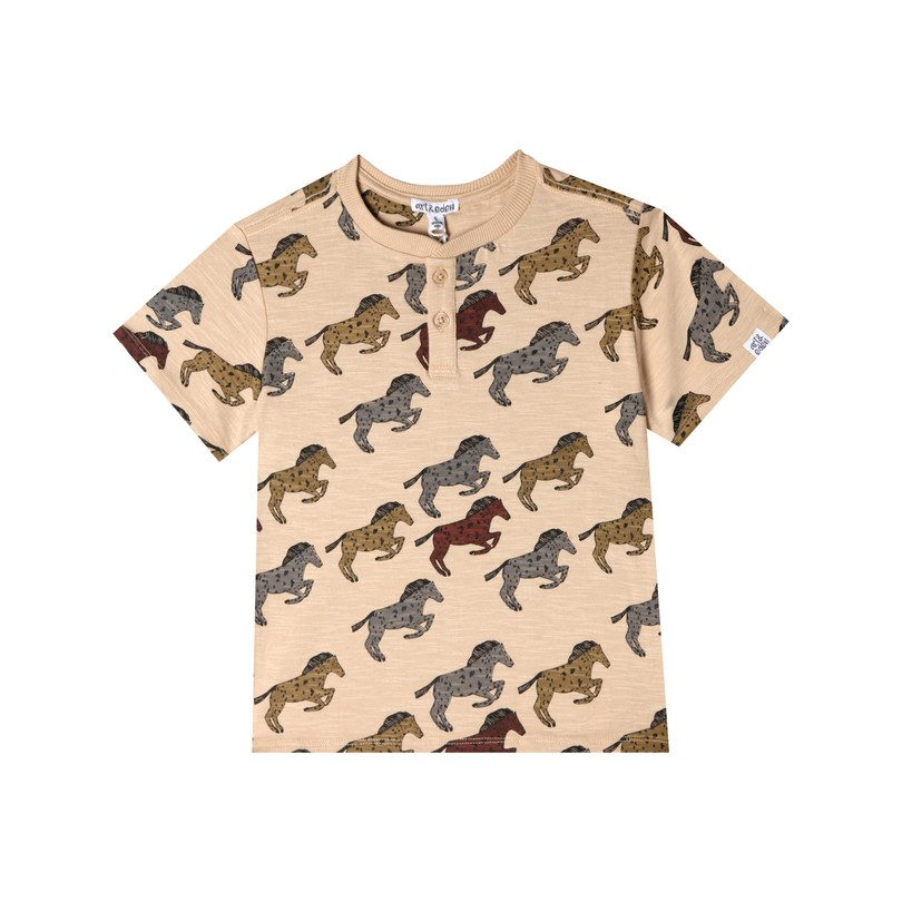 Liam T-Shirt, Tan Racing Horse