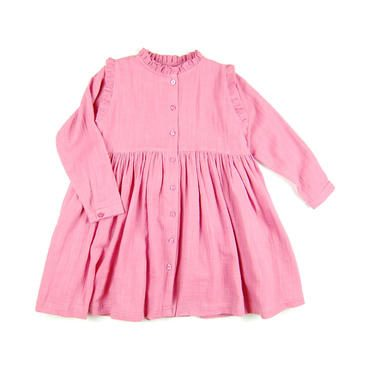 Organic Cotton Eli Dress, Wild Rose