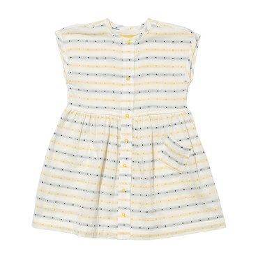 Bianca Dress, Double Faced Yellow & Navy