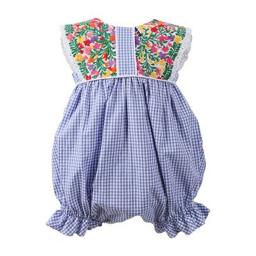 *Exclusive* Paloma Bubble, Blue Gingham