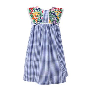 *Exclusive* Elena Dress, Blue Gingham