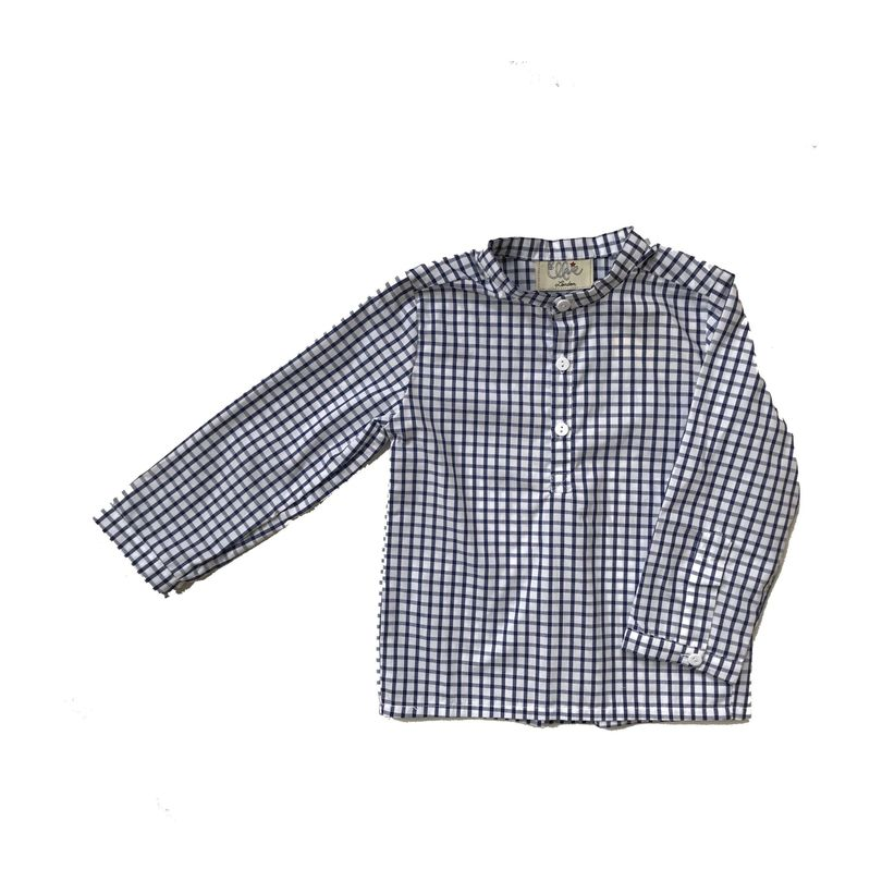 Hector Shirt, Navy Check