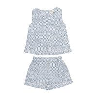 Posie Pajama Set, Soft Blue