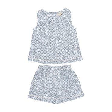 Posie Pajama Set, Soft Blue