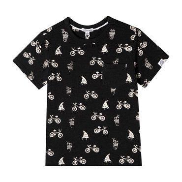 Lucas T-Shirt, Black Playtime Print
