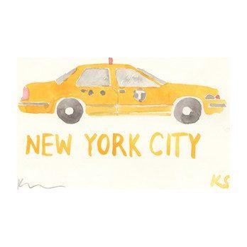 "New York City Taxi, 7.5"" x 5"""