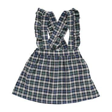 Amber Skirt, Green Tartan