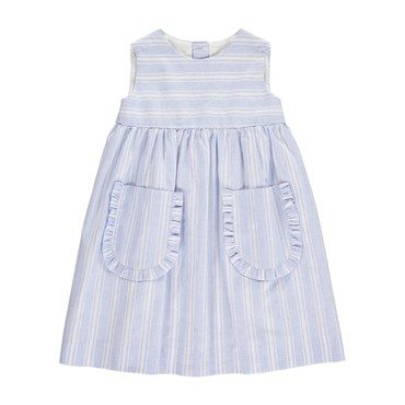 Lea Dress, Blue Stripes