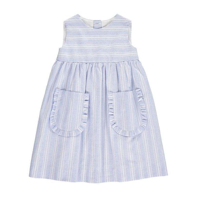 Lea Dress, Blue Stripes
