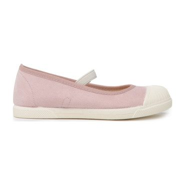 Canvas Elastic Mary Janes, Shimmer Rose