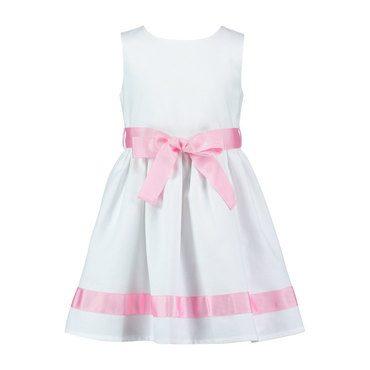Charlotte Pique Dress, Pale Pink