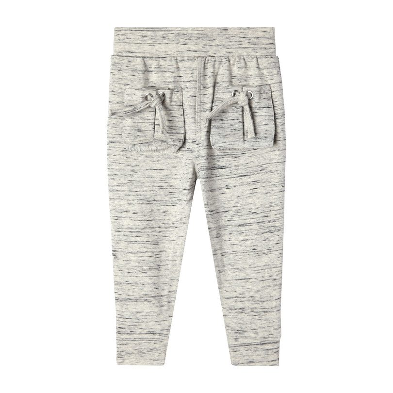 Mini Aubrey Tie Pocket Sweatpant, Melange