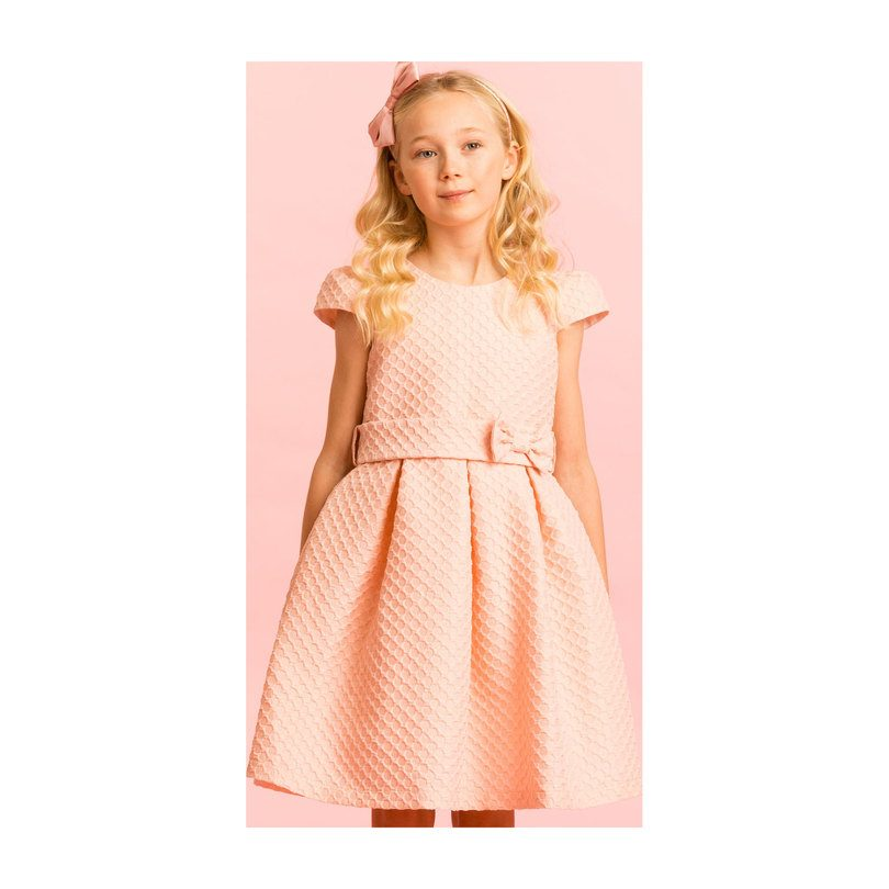 Twinkle Jacquard Party Dress, Pink