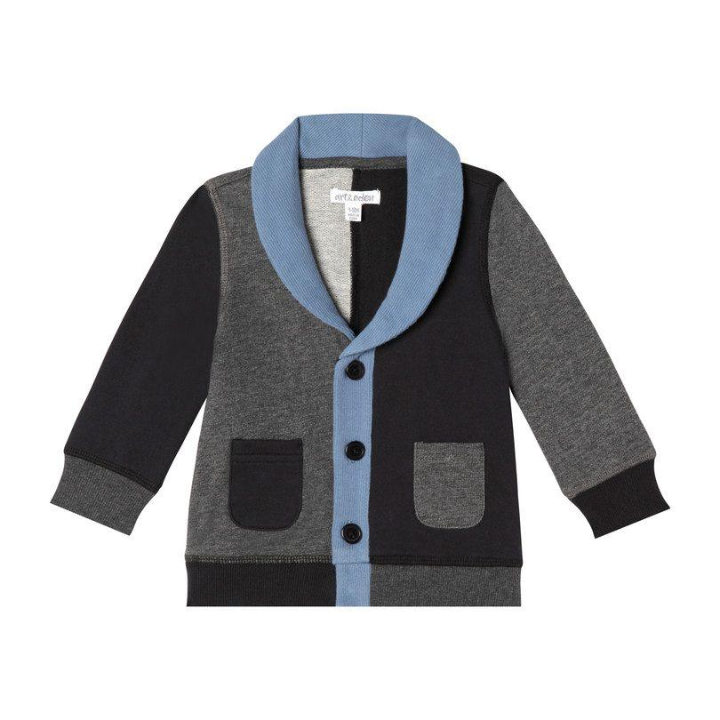 Mini Pierre Jacket, Black and Blue