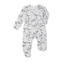 Seals Zipper Footie, Grey