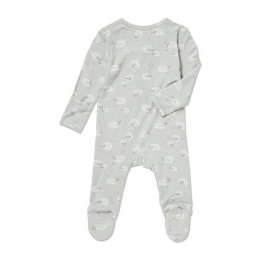 Sheep Zipper Footie, Grey