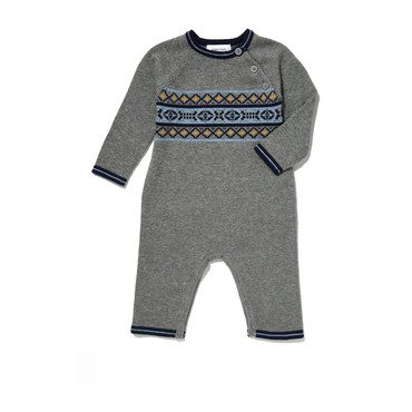 Viking Fair Isle Knit Coverall, Grey
