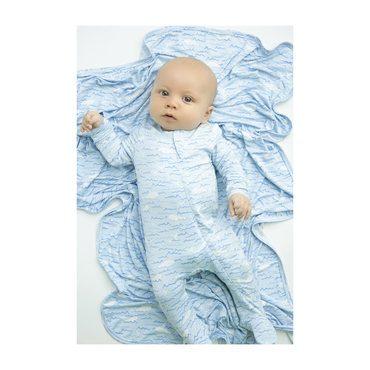 Baby Beluga Zipper Footie, Blue