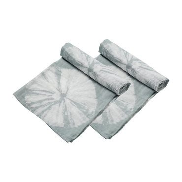 Grey Shiblori Sand Dollars Swaddle 2 Pack
